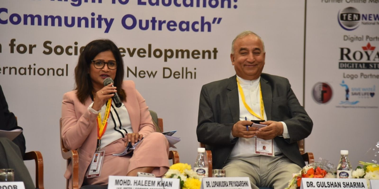 Speaking at the 7th CSR Meet about the Right to Education, New Delhi