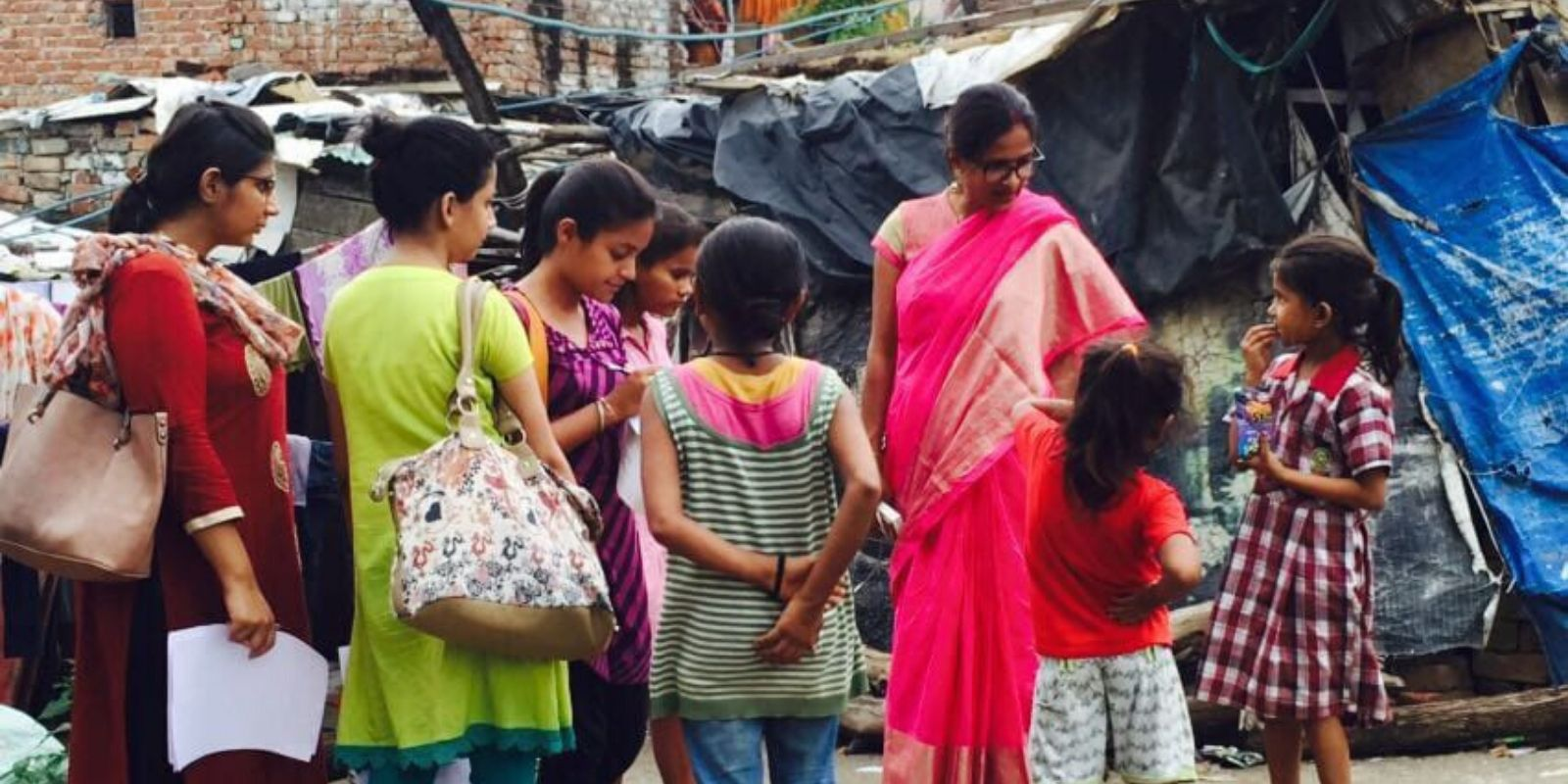 Working on Children Education and Protection from Substance Abuse in Todapur Slums, New Delhi